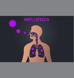 Influenza icon design infographic health medical vector