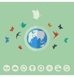 Nature world vector image vector image