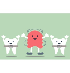 Orthodontics braces and orthodontics teeth vector