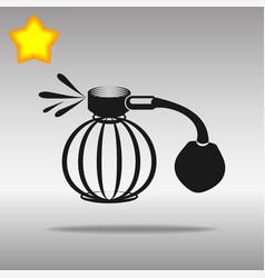 perfume aerosol black icon button logo symbol vector image vector image