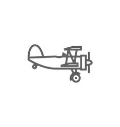 Propeller plane line icon vector