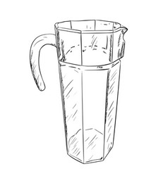 Sketch of carafe vector