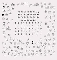 Sketchnote design kit vector