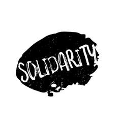 Solidarity rubber stamp vector