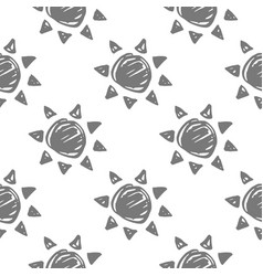 sun monochrome pattern vector image vector image