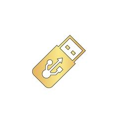 Usb flash drive computer symbol vector