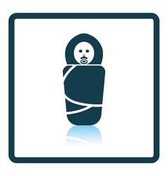 Wrapped infant icon vector image vector image