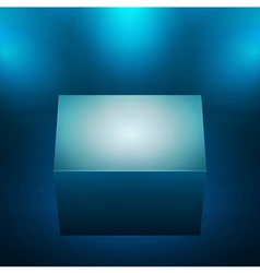 3d isolated empty blue podium vector