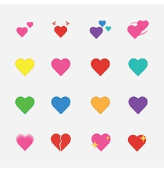 Set of heart icon vector image