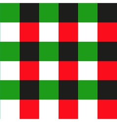 Green red black chessboard background vector
