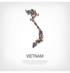 People map country vietnam vector