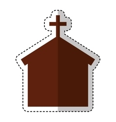Church silhouette isolated icon vector