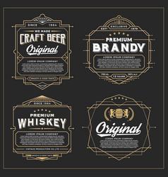 Vintage frame design for labels vector