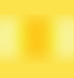 Orange yellow halftone pop art retro background vector