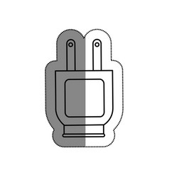 Plug energy isolated icon vector