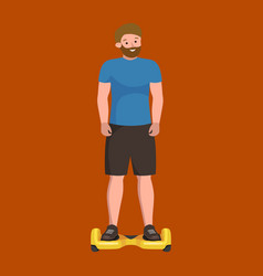 active peoples fun with electric scooter new vector image