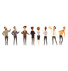 People and online meeting icons set vector