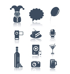 Holidays and party symbols vector image
