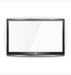 Black lcd tv screen vector