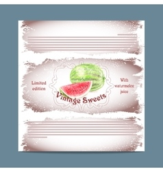Vintage template candy packaging vector
