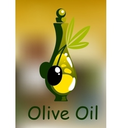 Olive oil bottle with rounded stopper vector