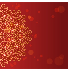Abstract red background with mandala ornament vector