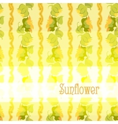 Sunflower border pattern background with light vector