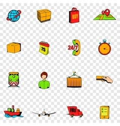 Logistics set icons vector