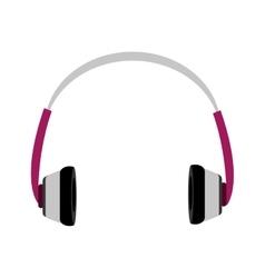 Music headphones front view graphic vector