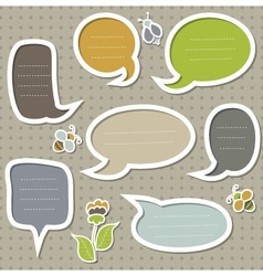 Collection of cute speech bubbles vector image