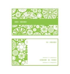 abstract green and white circles horizontal stripe vector image vector image