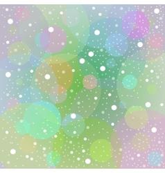 Backgroun tender green snow vector