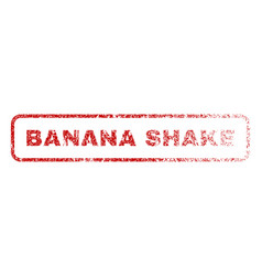 Banana shake rubber stamp vector