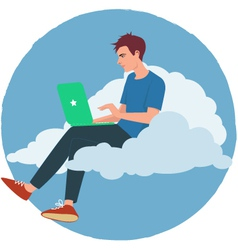Cloud internet vector