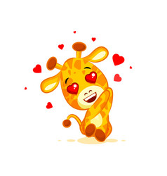 emoji hello hi in love hearts you are cute vector image