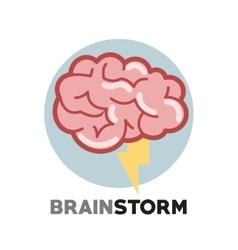 Graphic design of brainstorm vector