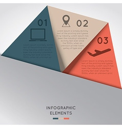 Infographic Elements in Triangle Shape vector image