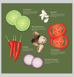 Ingredient food vector