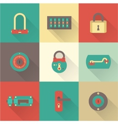 Locks icons vector