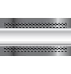 Metallic banner vector image