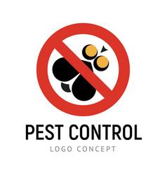 Pest control exterminators company logo vector