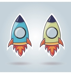 Rocket elements for web site vector
