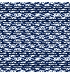 Seamless abstract blue pattern of horizontal vector image vector image