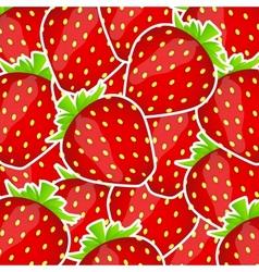 Sweet tasty strawberry vector