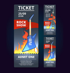 ticket design template of music event poster vector image vector image