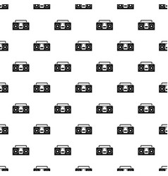 Vintage tape recorder pattern vector