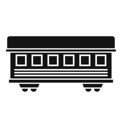 Passenger train car icon simple style vector