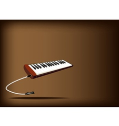 A Musical Melodica on Dark Brown Background vector image