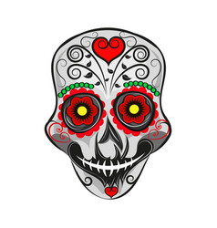 Mexican skull with patterns vector