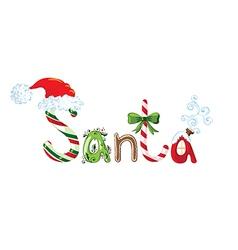 Santa text vector image